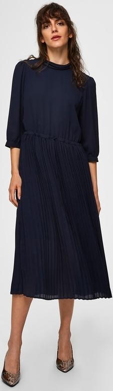 Granatowa sukienka Selected Femme