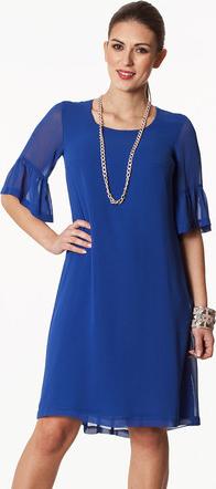 Granatowa sukienka Semper midi z tkaniny trapezowa
