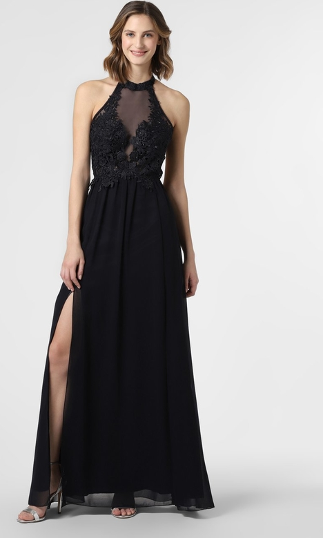 Granatowa sukienka SUDDENLY Princess z dekoltem halter