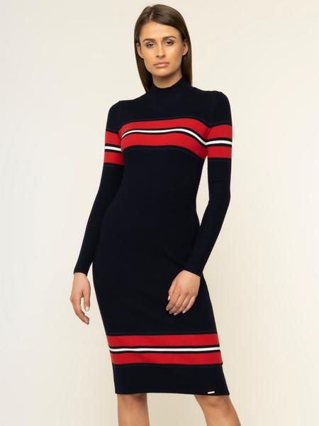 Granatowa sukienka Superdry midi