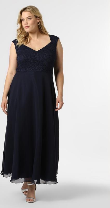 Granatowa sukienka Swing Curve bez rękawów maxi z dekoltem w kształcie litery v