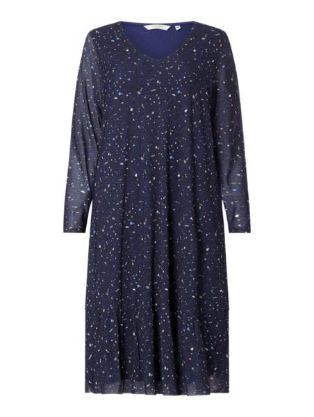 Granatowa sukienka Tom Tailor z okrągłym dekoltem mini