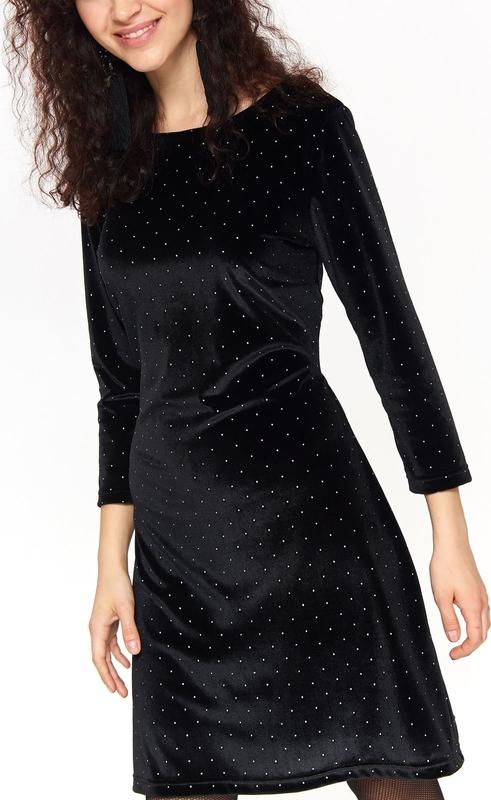 Granatowa sukienka Top Secret mini z długim rękawem