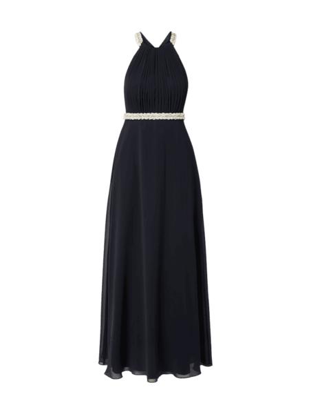 Granatowa sukienka V.m. z szyfonu