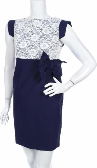 Granatowa sukienka Vesper z okrągłym dekoltem mini bez rękawów