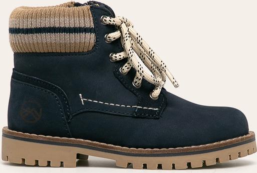 Granatowe buty dziecięce zimowe Mayoral ze skóry