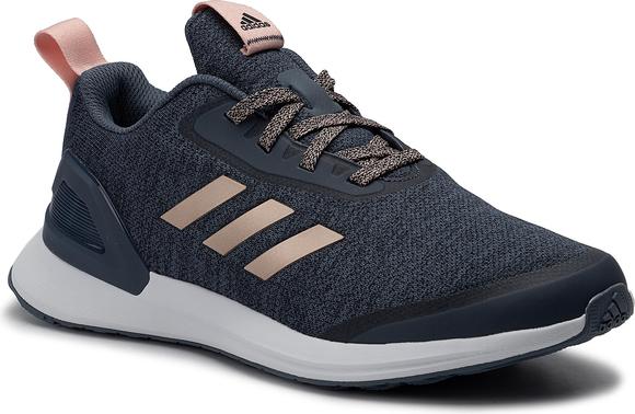 ZMNIEJSZONE O 50% Granatowe buty sportowe Adidas sznurowane