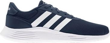 Granatowe buty sportowe Adidas ze skóry w sportowym stylu