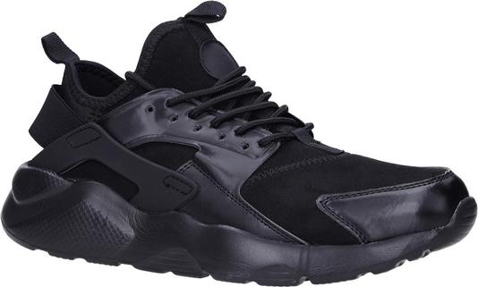 Granatowe buty sportowe Casu sznurowane w młodzieżowym stylu