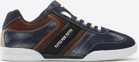 Granatowe buty sportowe Edoti sznurowane