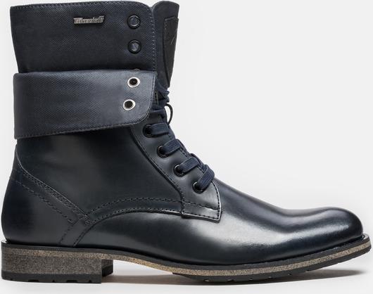 Granatowe buty zimowe Kazar sznurowane
