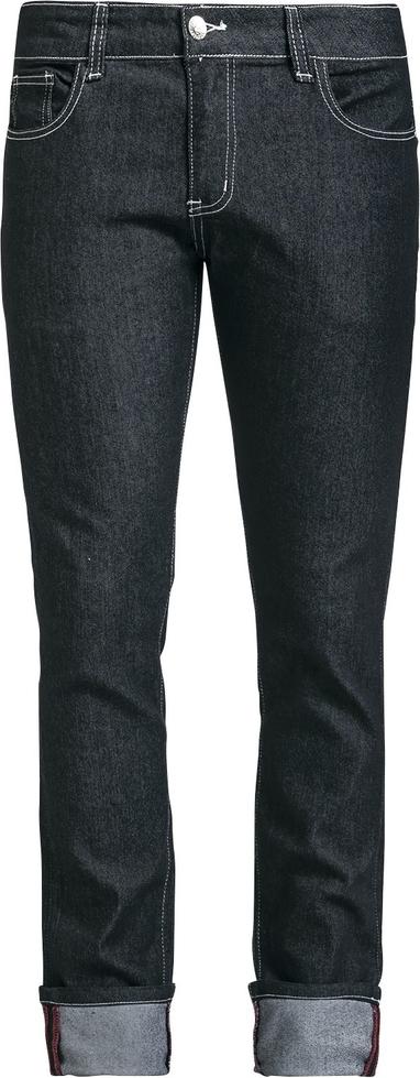 Granatowe jeansy Banned Alternative