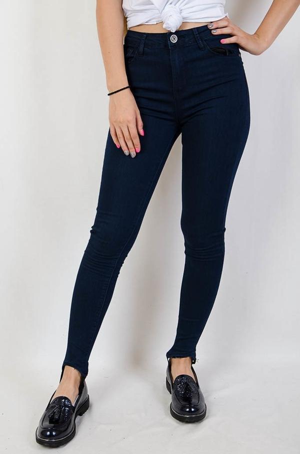 Granatowe jeansy Olika w młodzieżowym stylu z jeansu