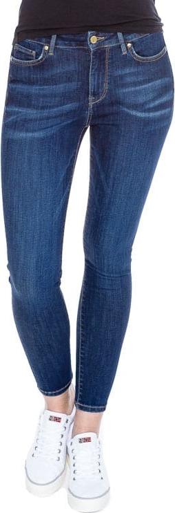 Granatowe jeansy Tommy Hilfiger w młodzieżowym stylu