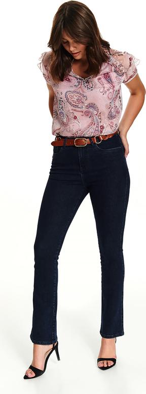 Granatowe jeansy Top Secret