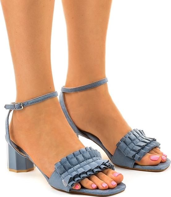 Granatowe sandały Gemre.com.pl z klamrami