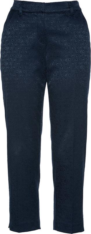 Granatowe spodnie bonprix bpc selection premium w stylu casual