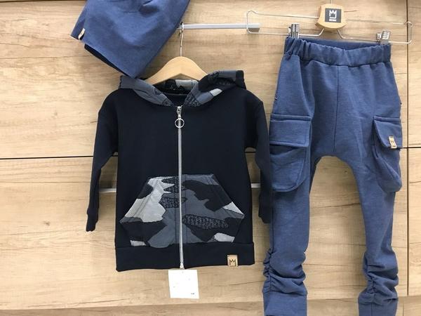 Granatowe spodnie dziecięce e-lily.pl dla chłopców