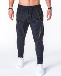 Granatowe spodnie ombre clothing z bawełny