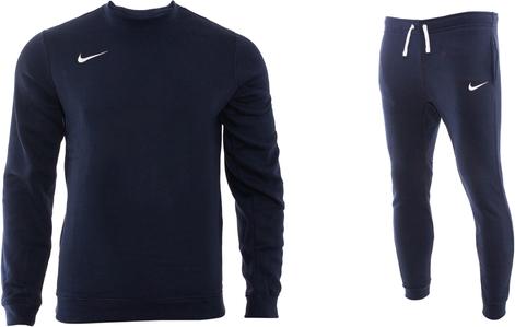Granatowy dres Nike z bawełny
