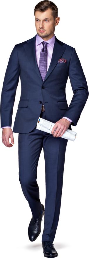 Granatowy garnitur LANCERTO
