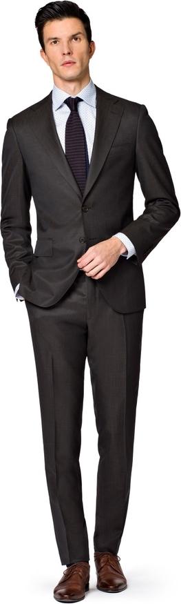 Granatowy garnitur LANCERTO z tkaniny