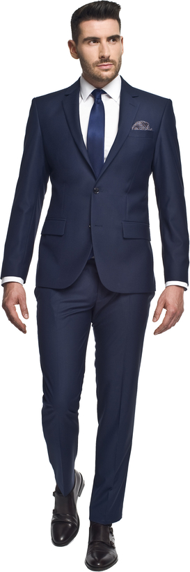 Granatowy garnitur recman