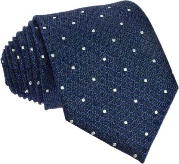 Granatowy krawat Republic of Ties w stylu casual z wełny