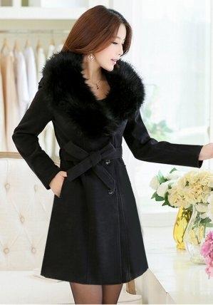 Granatowy płaszcz Estera w stylu casual