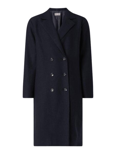 Granatowy płaszcz Jake*s Collection w stylu casual