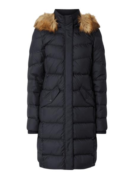 Granatowy płaszcz Marc O'Polo w stylu casual