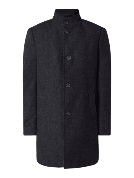Granatowy płaszcz męski Christian Berg Men