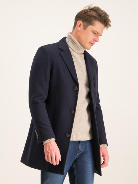 Granatowy płaszcz męski Digel