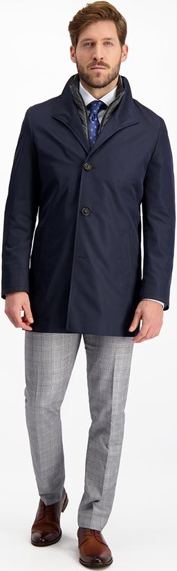 Granatowy płaszcz męski Lavard