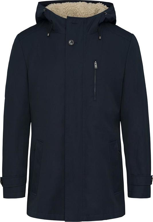 Granatowy płaszcz męski Lavard w młodzieżowym stylu z tkaniny