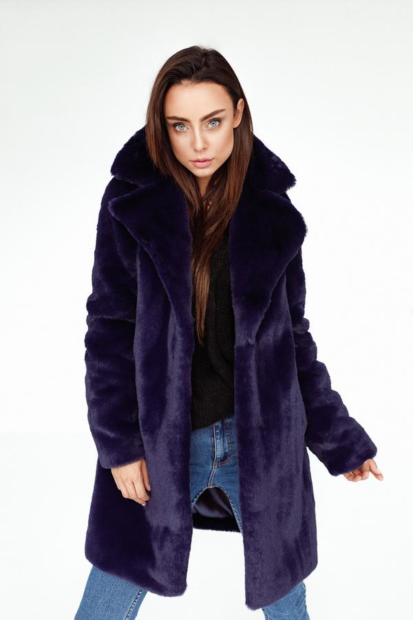 Granatowy płaszcz Smoke Furs