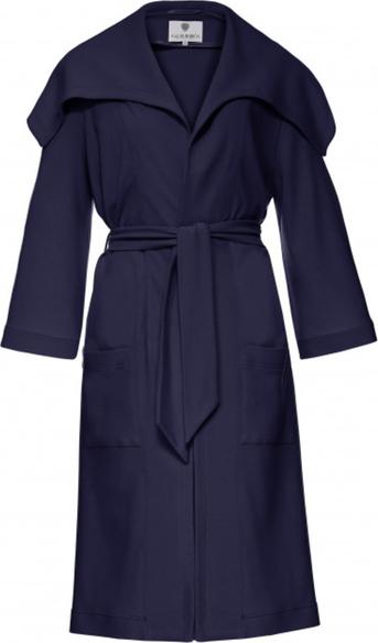 Granatowy płaszcz Yuliya Babich w stylu casual