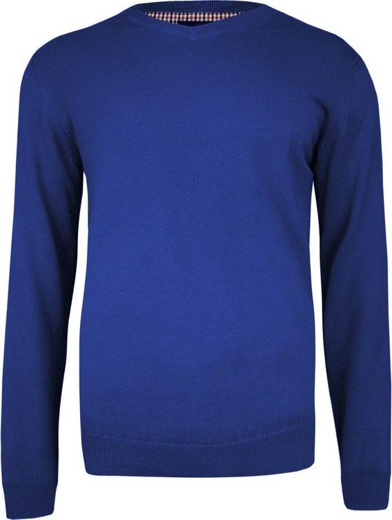 Granatowy sweter Adriano Guinari