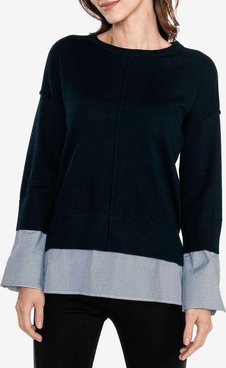 Granatowy sweter Armani Jeans w stylu casual