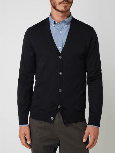Granatowy sweter Christian Berg Men