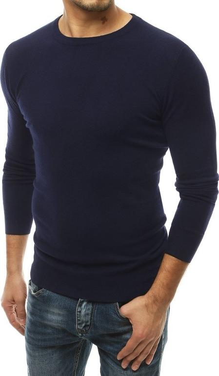 Granatowy sweter Dstreet z dzianiny