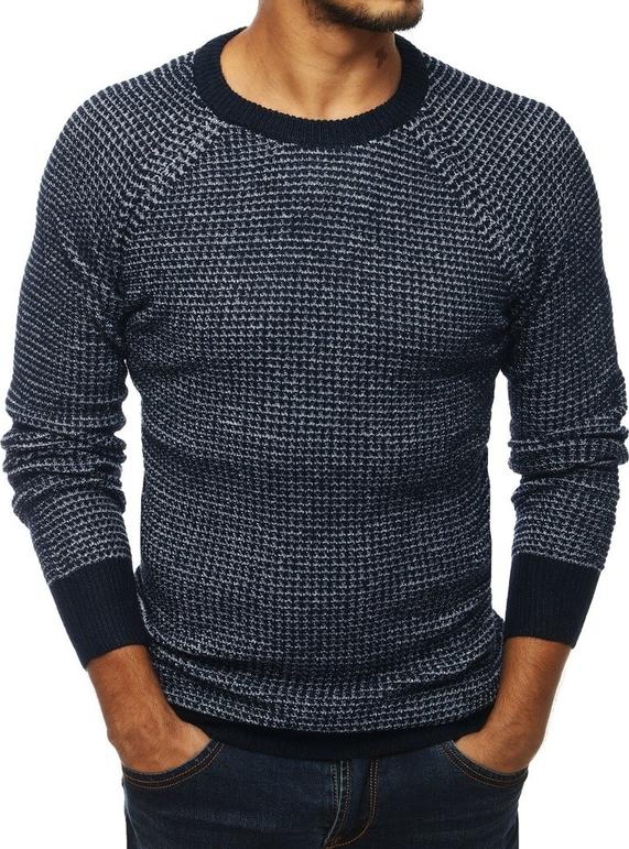 Granatowy sweter Dstreet z wełny