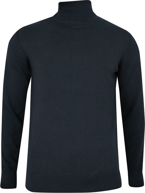 Granatowy sweter Just yuppi w stylu casual z bawełny