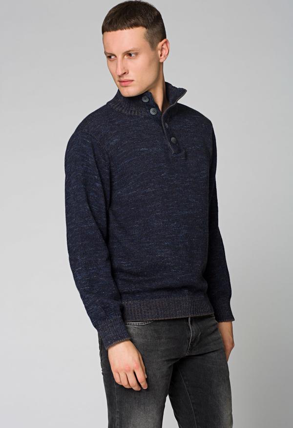 Granatowy sweter LANCERTO z wełny