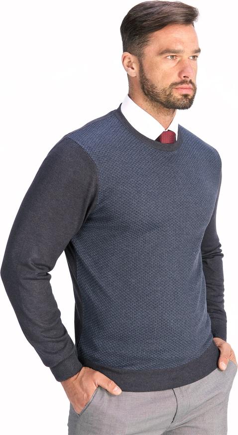 Granatowy sweter Lanieri z bawełny