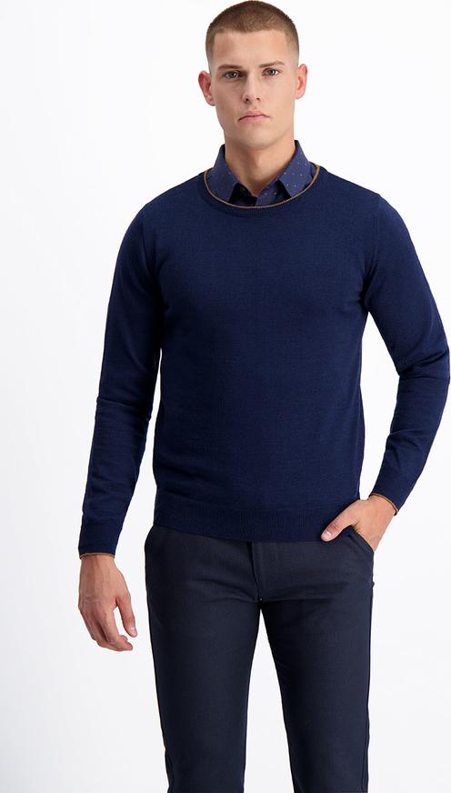 Granatowy sweter Lavard