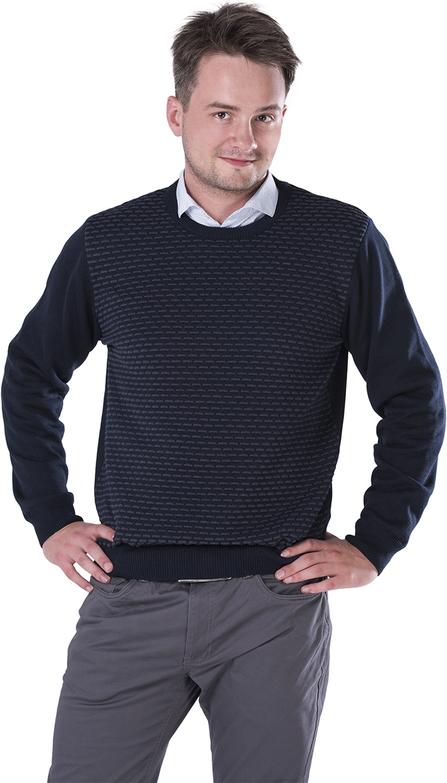 Granatowy sweter M. Lasota z bawełny