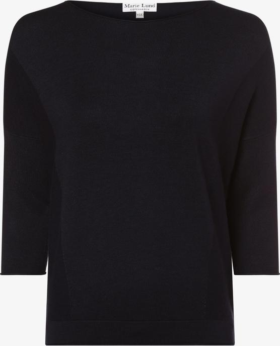 Granatowy sweter Marie Lund w stylu casual z dzianiny