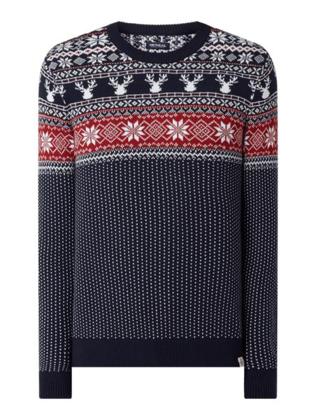 Granatowy sweter McNeal w młodzieżowym stylu