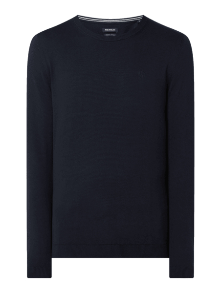 Granatowy sweter McNeal z bawełny w stylu casual